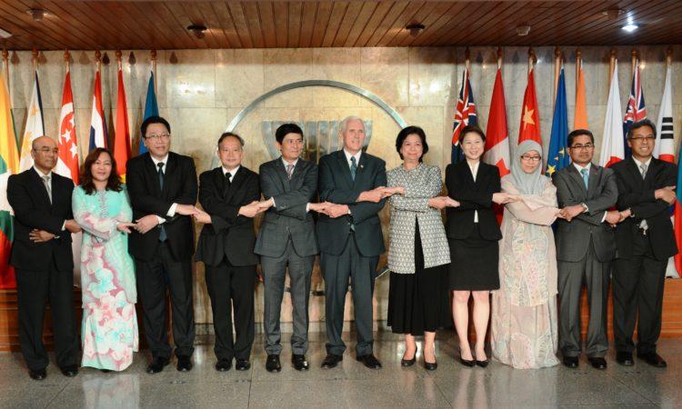 U.S. Vice President Pence with ASEAN Leaders (State Dept./Erik Kurniawan)