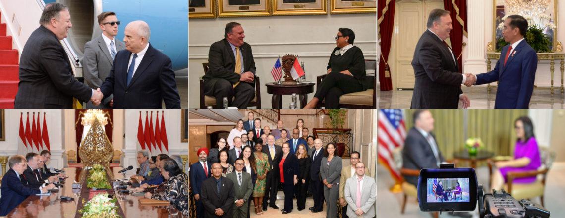 Menteri Luar Negeri AS Michael R. Pompeo Mengunjungi Jakarta, Indonesia