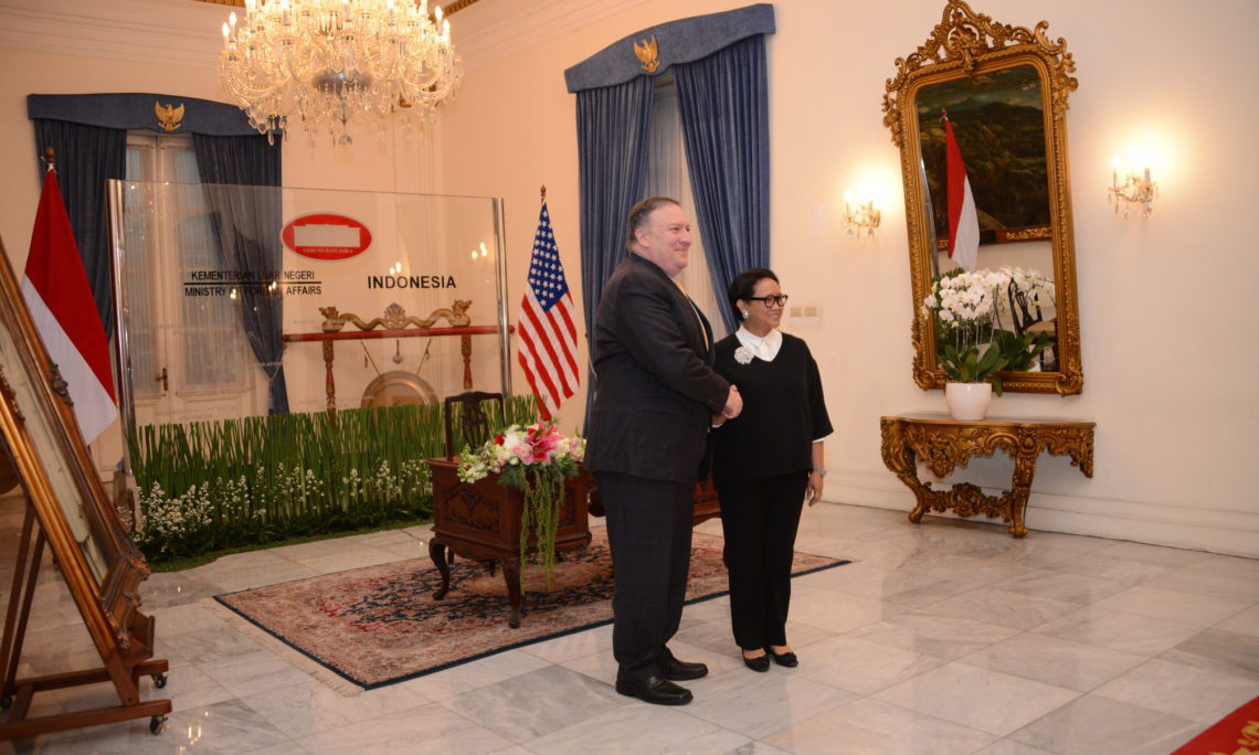 Secretary Pompeo's Meeting With Indonesian Foreign Minister Retno L.P. Marsudi (State Dept. / Budi Sudarmo and Erik Kurniawan)