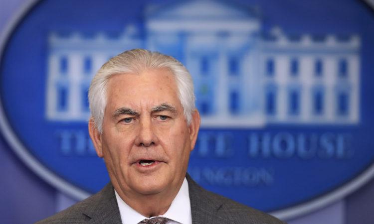 Pernyataan Menteri Luar Negeri Rex Tillerson Terkait Peluncuran Misil oleh Korea Utara (State Dept. / AP Images)