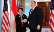 Secretary Pompeo's Meeting With Indonesian Foreign Minister Retno L.P. Marsudi (State Dept. / AP Images)