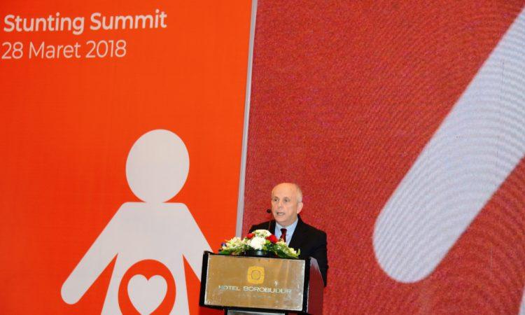 Sambutan Duta Besar AS Joseph R. Donovan Jr. di Indonesia Stunting Summit (State Dept. / Erik Kurniawan)