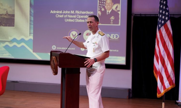 Remarks of Admiral John M. Richardson, Chief of Naval Operations (State Dept. / Rakesh Surampudi)